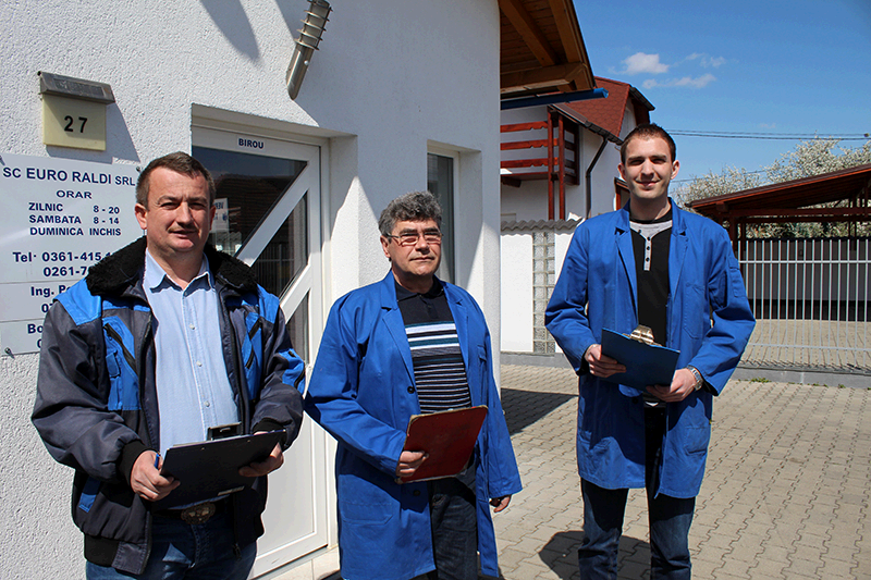 Adrian Pop (Inginer autovehicule); Jozsef Erdei (Inginer autovehicule); Alexandru Bojan (Tehnician autovehicule)